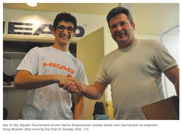 Hamid Khosrowkiani wins the 2013 Sea to Sky Squash Tournament