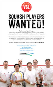 Squash Players Wanted