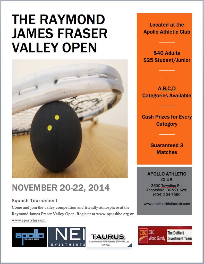 2014 Fraser Valley Open Poster