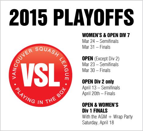 VSL Playoffs 2015 Schedule