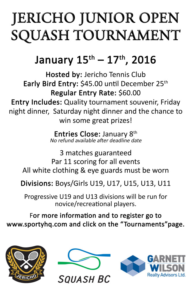 Jericho Junior Open 2016